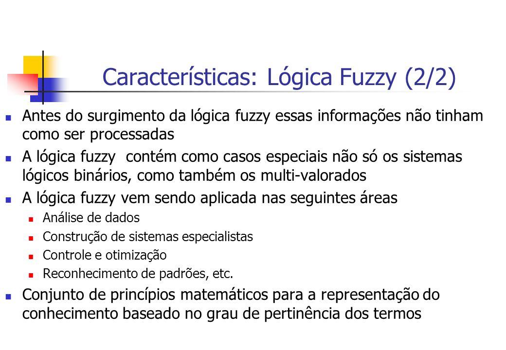 Características: Lógica Fuzzy (2/2)