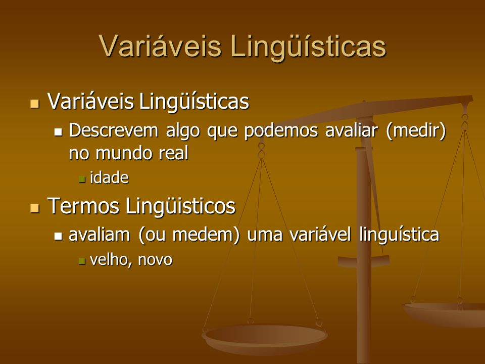 Variáveis Lingüísticas