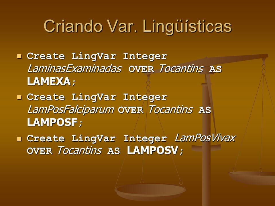 Criando Var. Lingüísticas