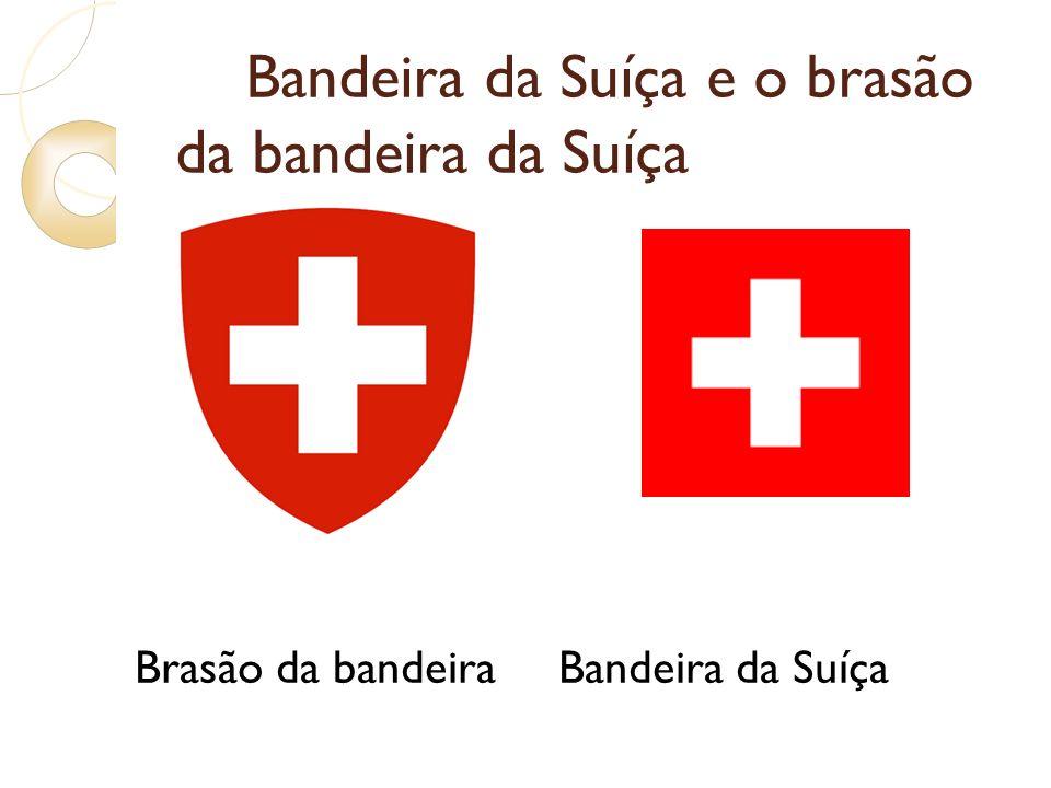 Bandeira da Suíça e o brasão da bandeira da Suíça