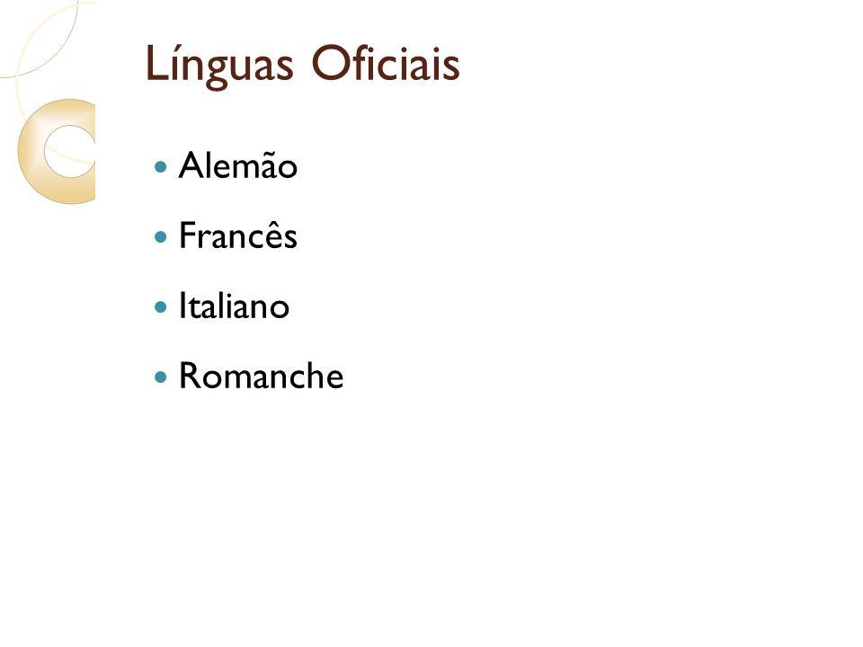 Línguas Oficiais Alemão Francês Italiano Romanche