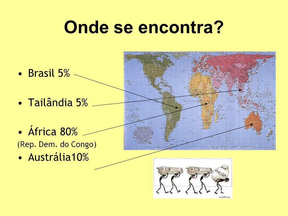 Onde se encontra Brasil 5% Tailândia 5% África 80% Austrália10%