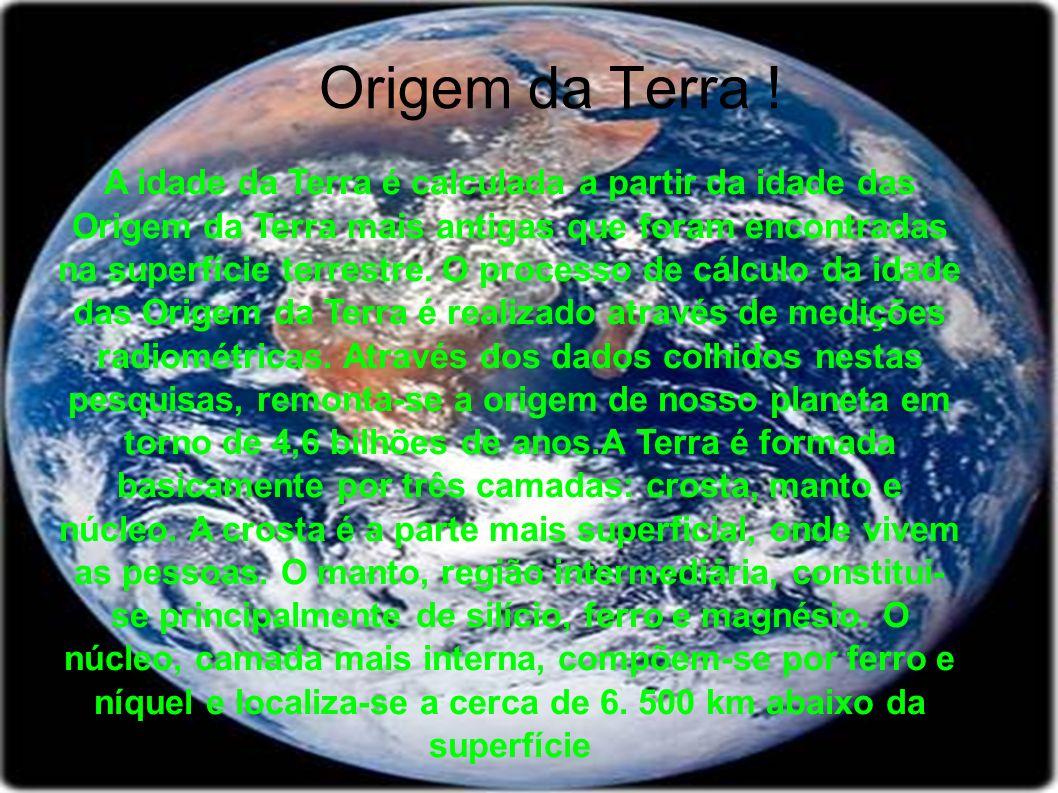 Origem da Terra !
