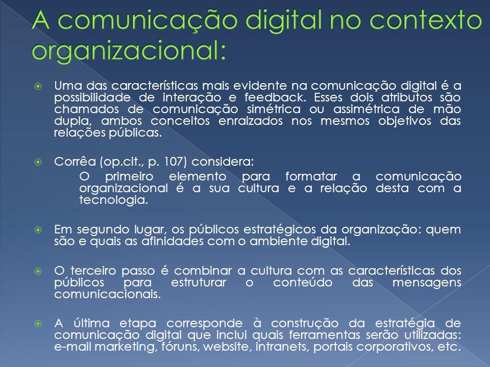 A comunicação digital no contexto organizacional: