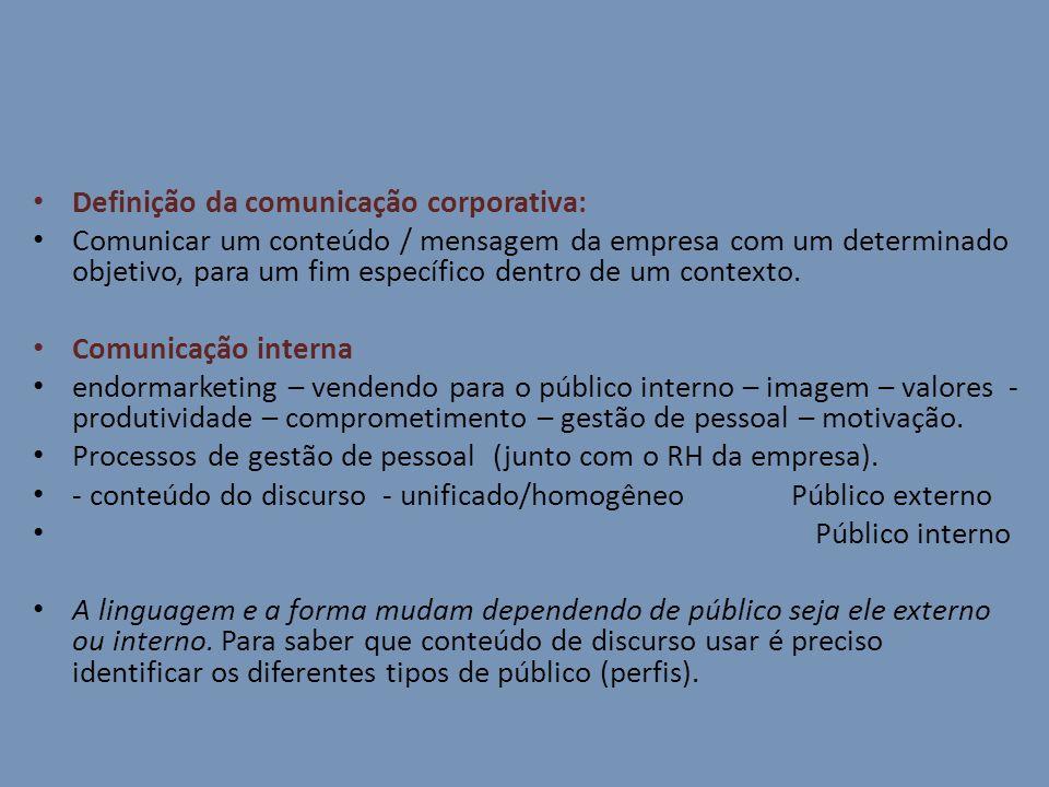 Definição da comunicação corporativa: