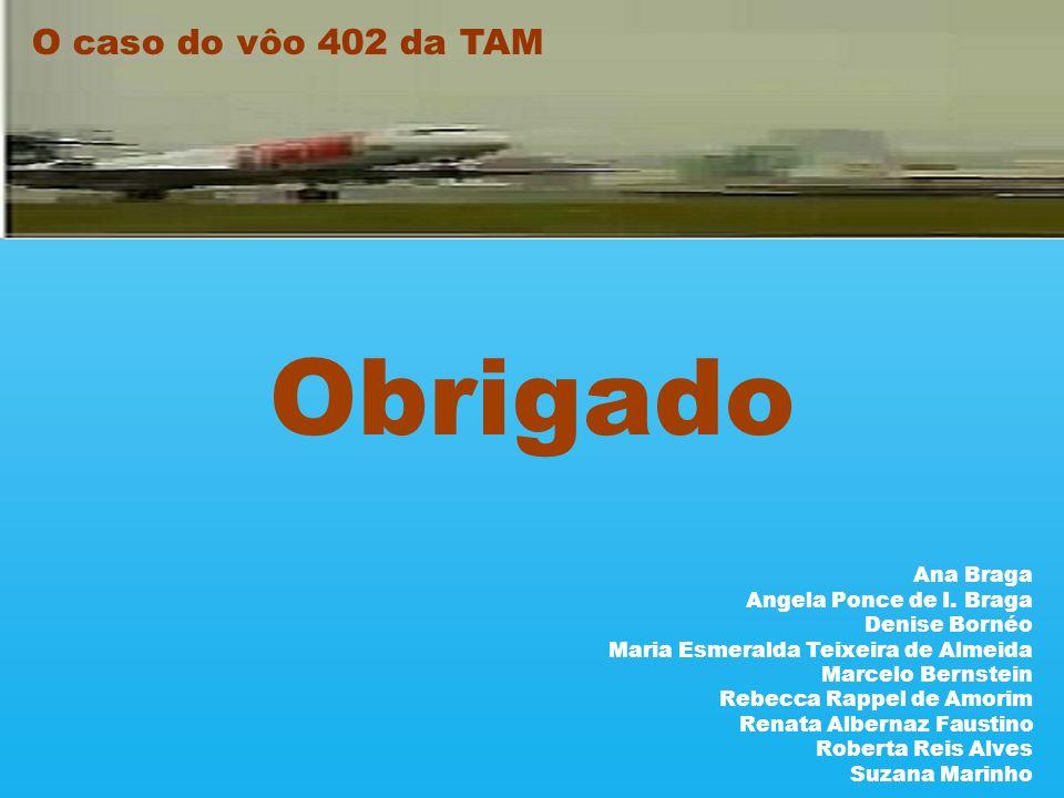 Obrigado O caso do vôo 402 da TAM Ana Braga Angela Ponce de I. Braga