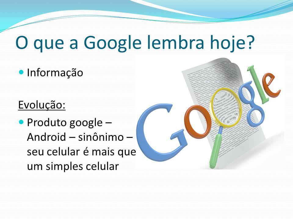 O que a Google lembra hoje