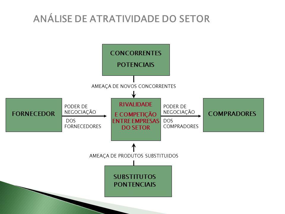 E COMPETIÇÃO ENTRE EMPRESAS DO SETOR SUBSTITUTOS PONTENCIAIS