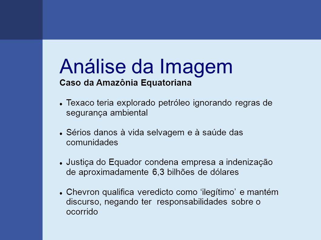 Análise da Imagem Caso da Amazônia Equatoriana