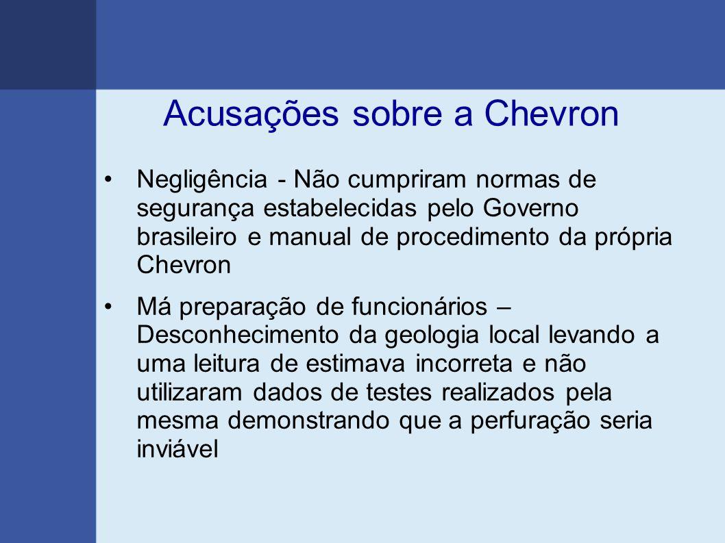 Acusações sobre a Chevron