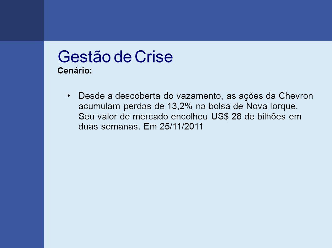 Gestão de Crise Cenário: