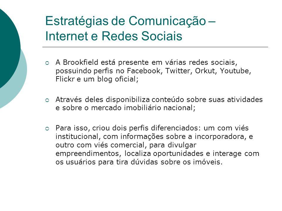 Estratégias de Comunicação – Internet e Redes Sociais
