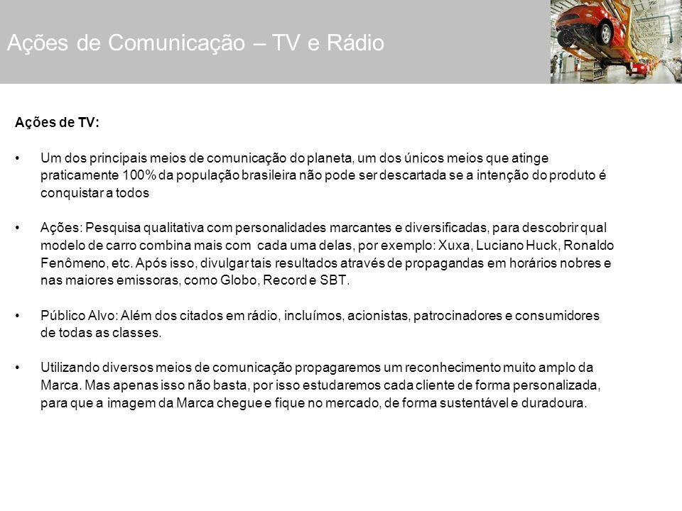 Ações de Comunicação – TV e Rádio