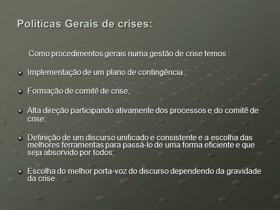Políticas Gerais de crises: