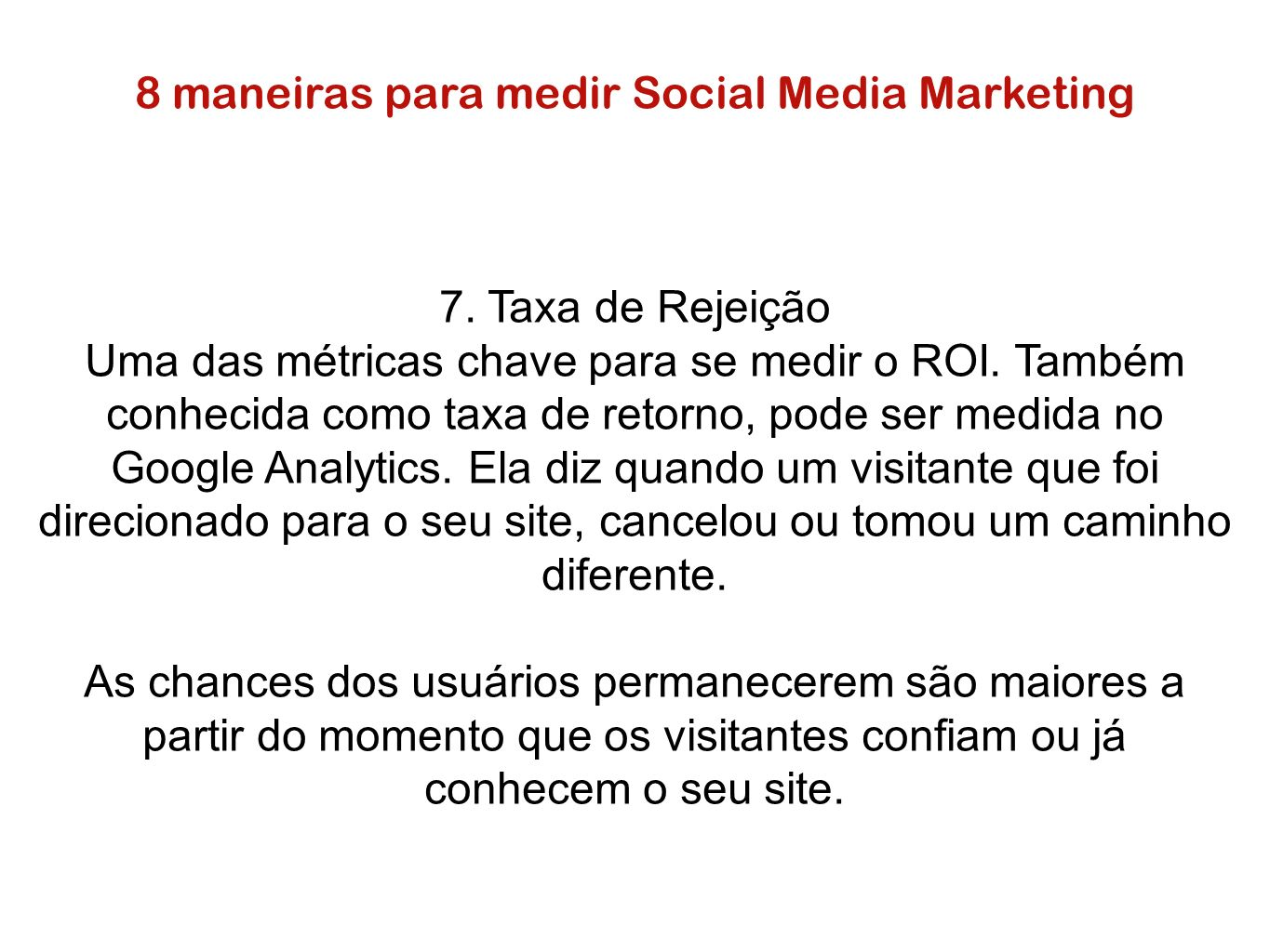 8 maneiras para medir Social Media Marketing