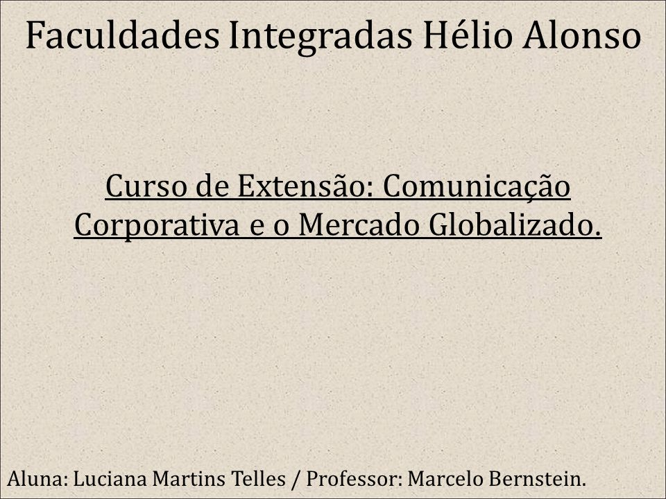 Faculdades Integradas Hélio Alonso