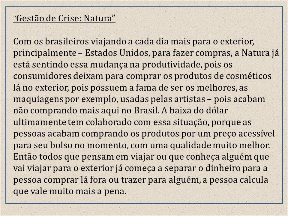 Gestão de Crise: Natura
