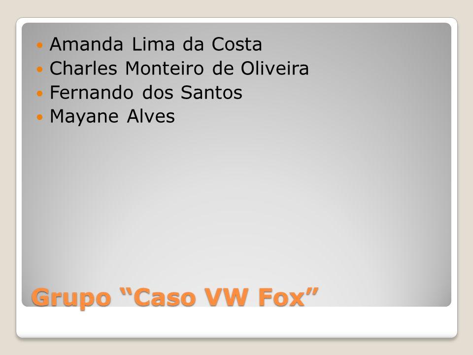 Grupo Caso VW Fox Amanda Lima da Costa Charles Monteiro de Oliveira