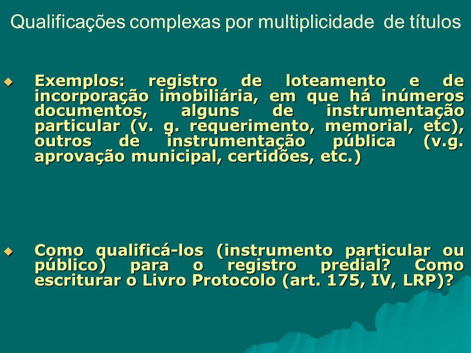 Qualificações complexas por multiplicidade de títulos