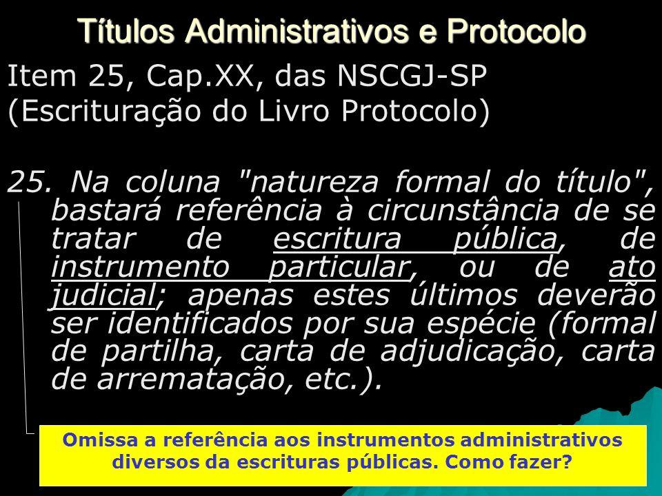 Títulos Administrativos e Protocolo
