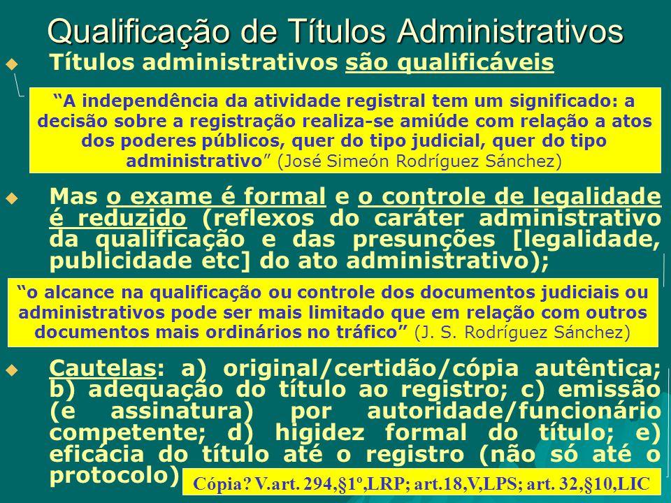 Qualificação de Títulos Administrativos