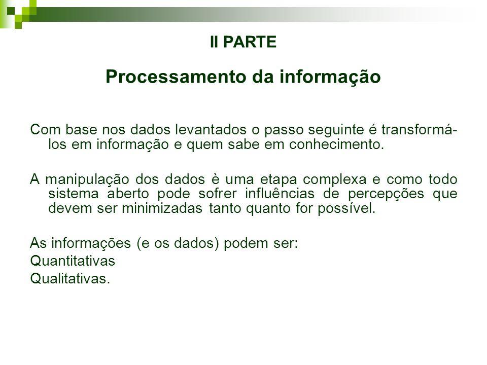 II PARTE Processamento da informação