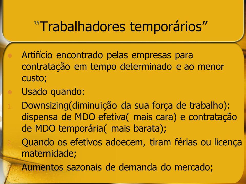 Trabalhadores temporários