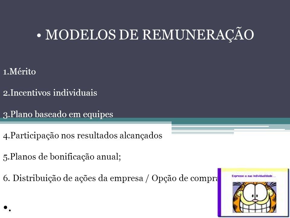 • MODELOS DE REMUNERAÇÃO