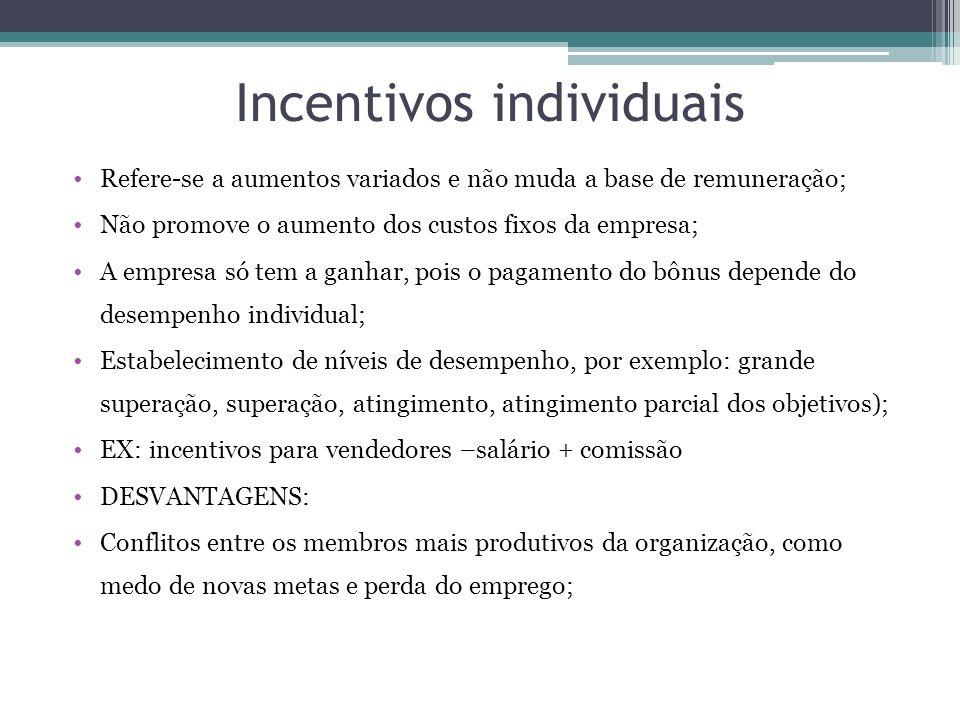 Incentivos individuais
