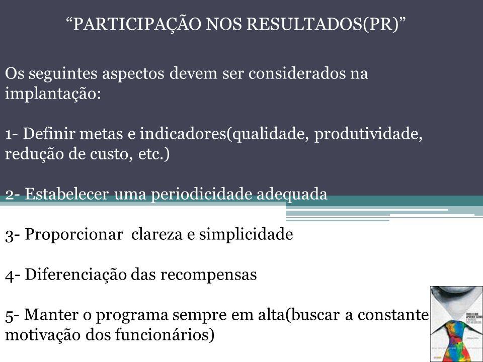 PARTICIPAÇÃO NOS RESULTADOS(PR)
