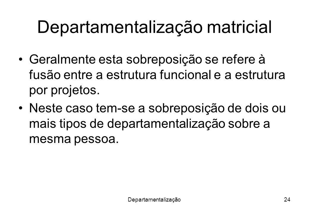 Departamentalização matricial
