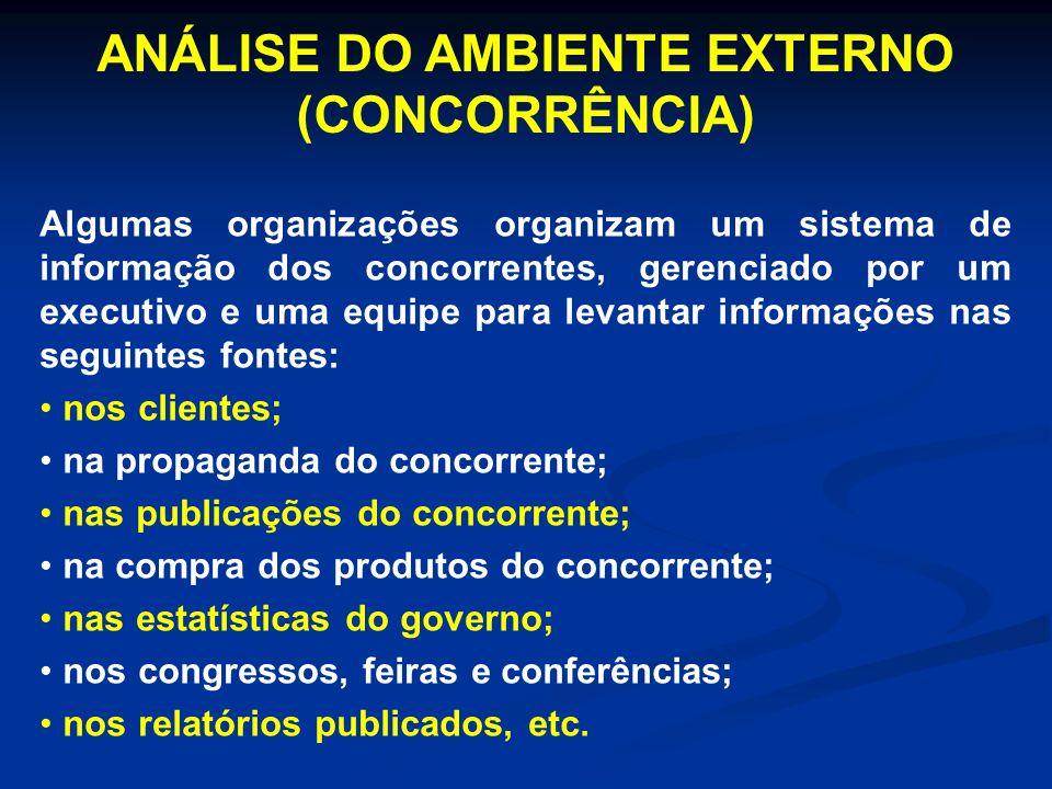 ANÁLISE DO AMBIENTE EXTERNO (CONCORRÊNCIA)