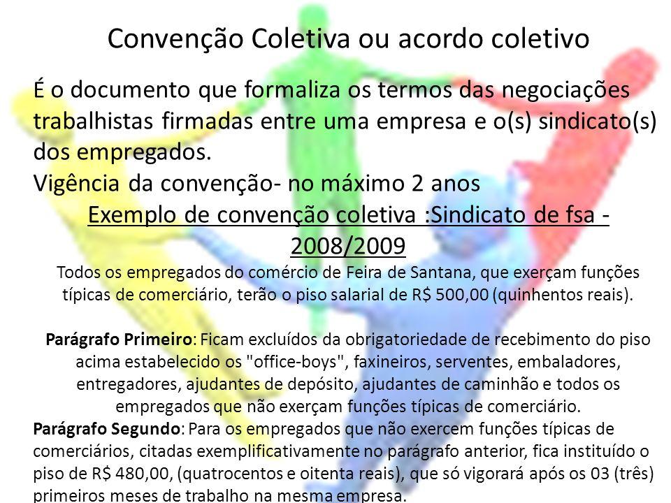 Convenção Coletiva ou acordo coletivo