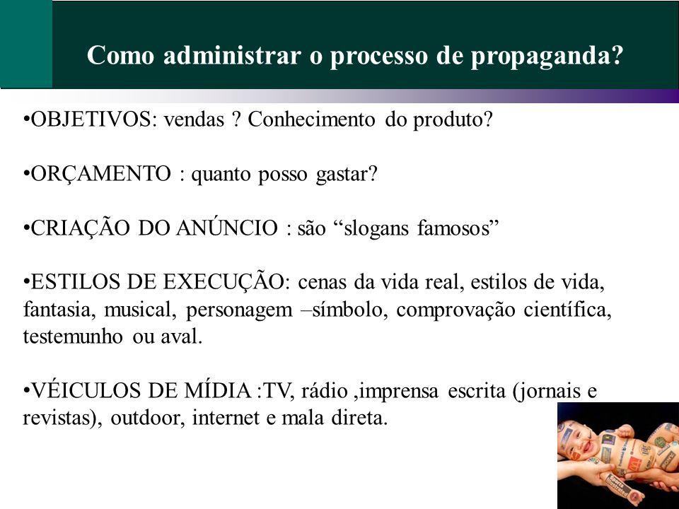 Como administrar o processo de propaganda