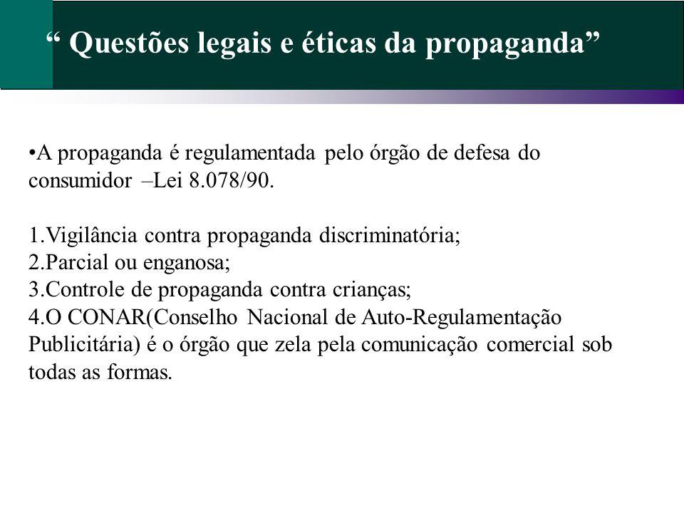 Questões legais e éticas da propaganda
