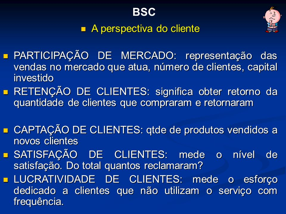A perspectiva do cliente