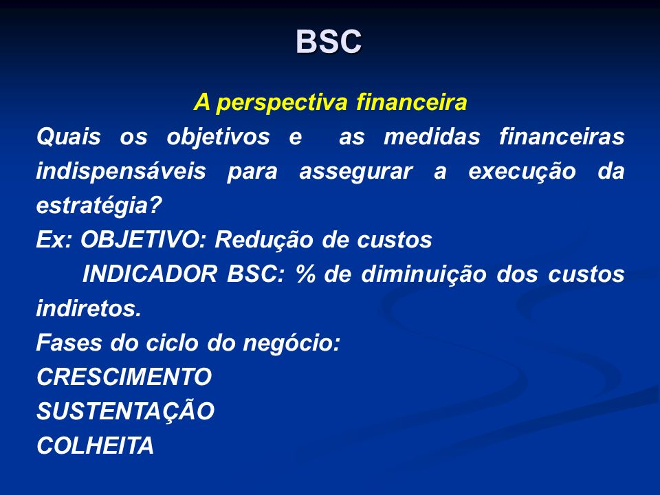 A perspectiva financeira