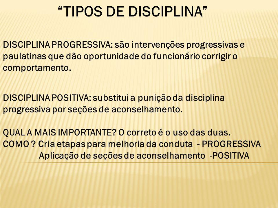 TIPOS DE DISCIPLINA