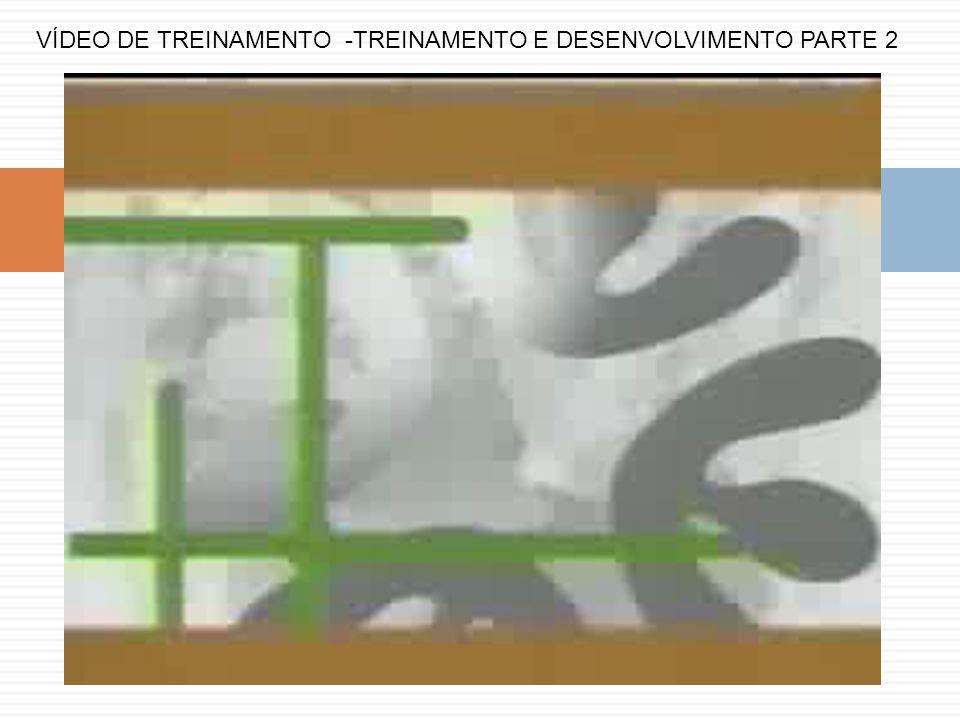 VÍDEO DE TREINAMENTO -TREINAMENTO E DESENVOLVIMENTO PARTE 2