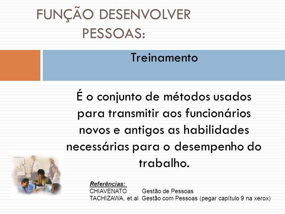 FUNÇÃO DESENVOLVER PESSOAS: