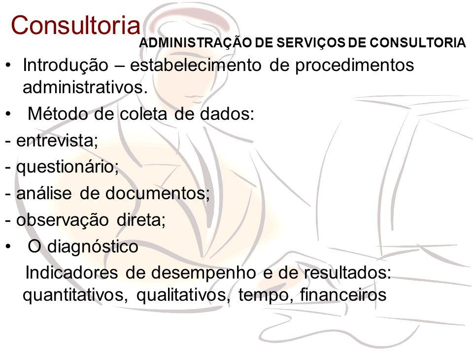 Introdução – estabelecimento de procedimentos administrativos.