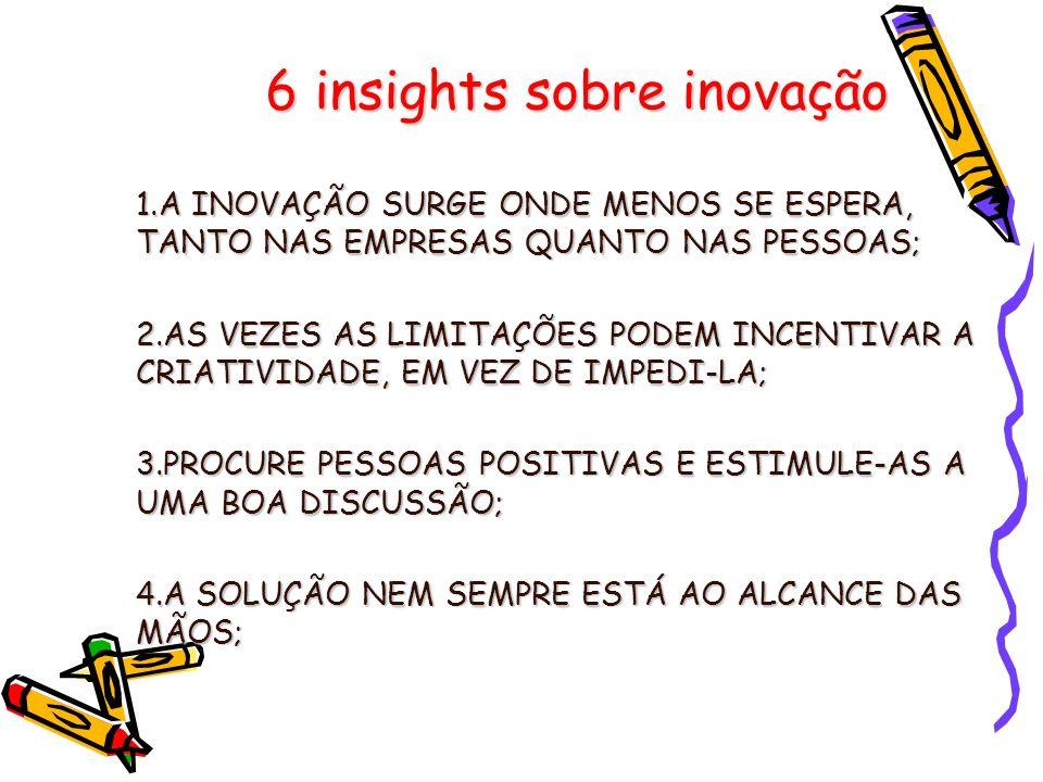 6 insights sobre inovação