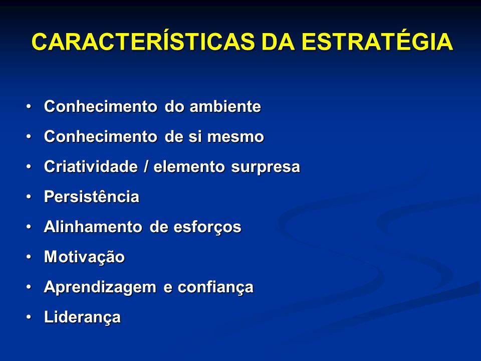CARACTERÍSTICAS DA ESTRATÉGIA