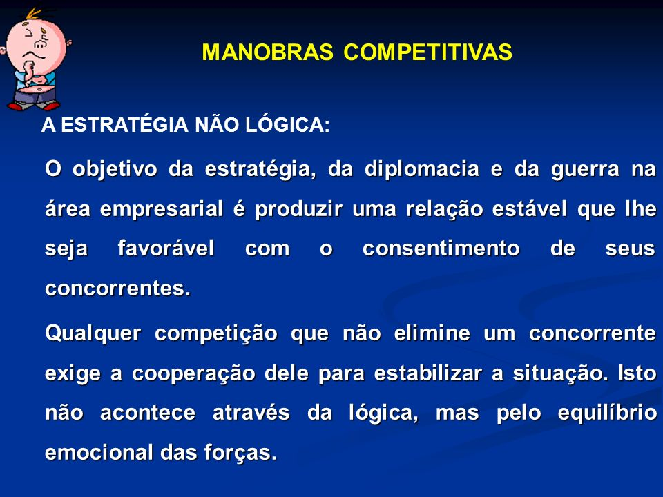 MANOBRAS COMPETITIVAS