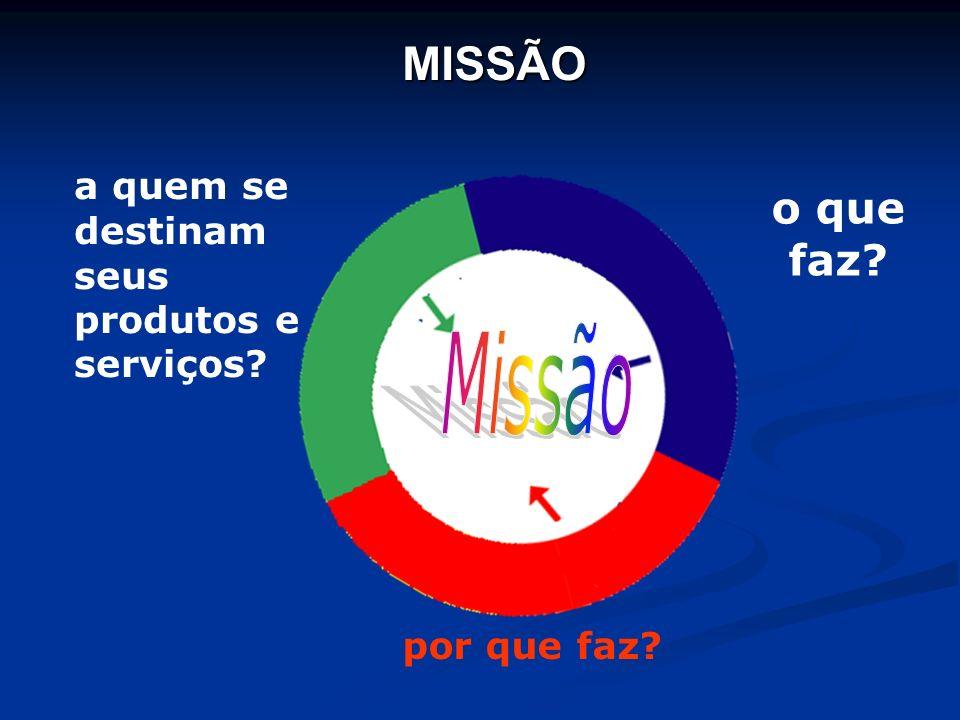 Missão MISSÃO o que faz a quem se destinam seus produtos e serviços