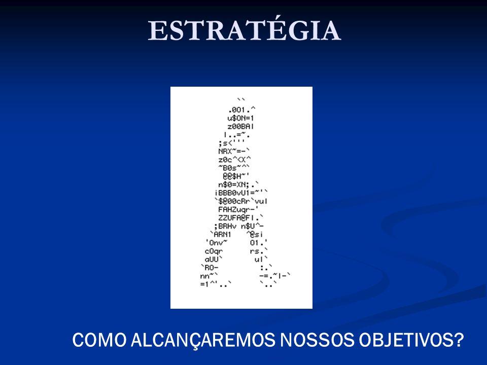 ESTRATÉGIA COMO ALCANÇAREMOS NOSSOS OBJETIVOS