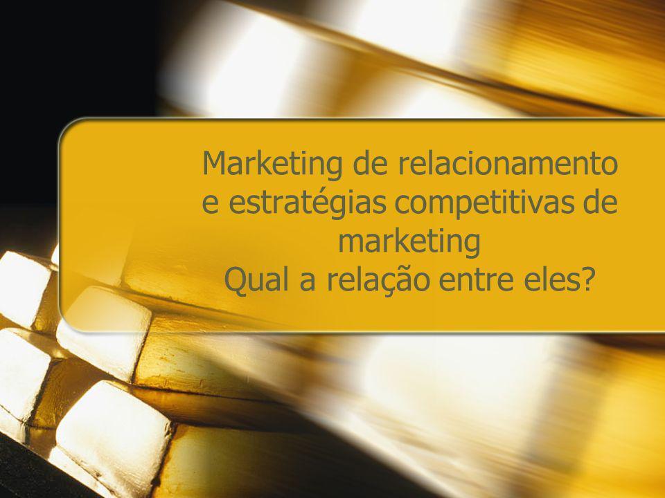 Marketing de relacionamento e estratégias competitivas de marketing Qual a relação entre eles