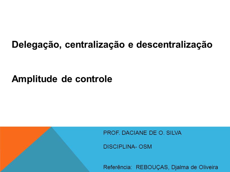 Delegação, centralização e descentralização