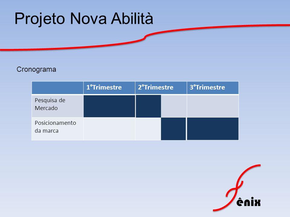 Projeto Nova Abilità Cronograma 1°Trimestre 2°Trimestre 3°Trimestre