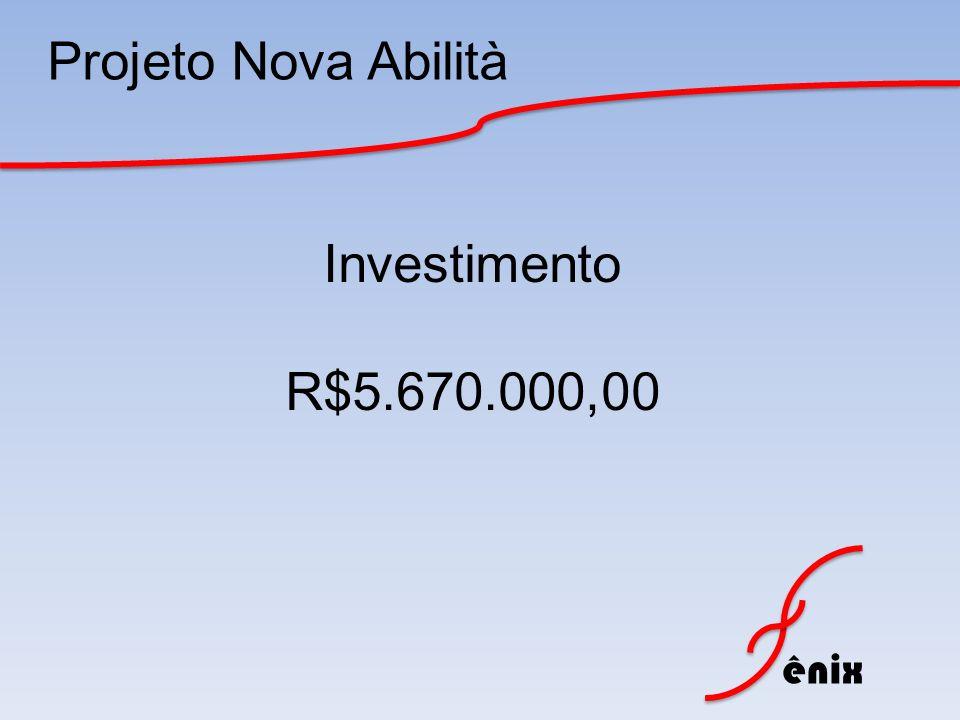 Projeto Nova Abilità Investimento R$5.670.000,00